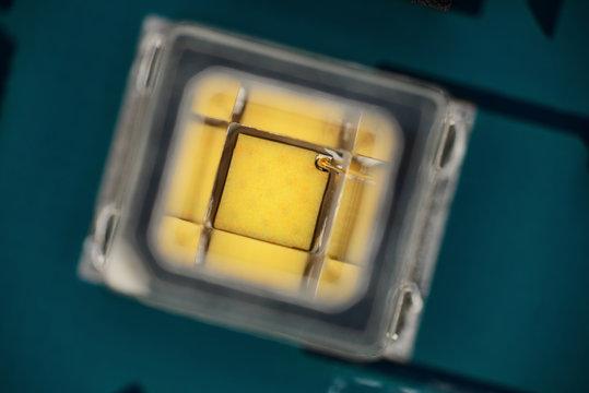 Extreme close up of light-emitting diode, LED