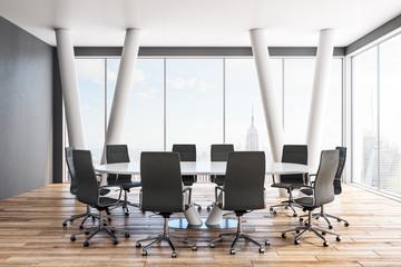Clean meeting room interior