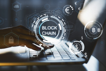 Blockchain and security concept