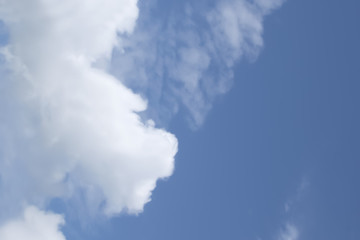 background of white clouds on a blue sky