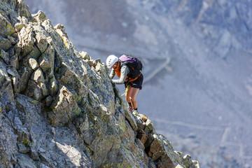 Alpinistes dans le Mercantour