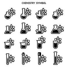 Chemical research symbol. Standard chemistry lab element icon(main concept).