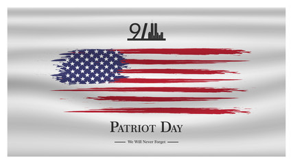 Patriot day USA Never forget 9.11  poster. Patriot Day, September 11, We will never forget