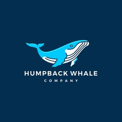 humpback whale logo icon vector illustration