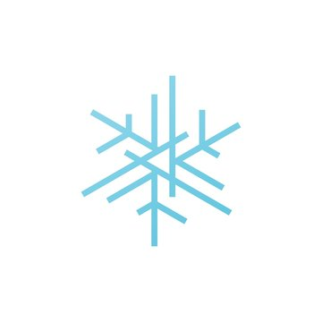 snowflakes snow flakes logo icon vector element