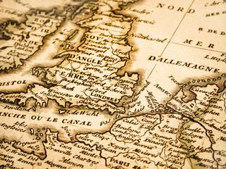 古地図 イギリスとフランス