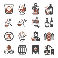 whisky icon set