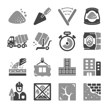 cement icon set