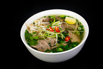 Vietnamese cuisine Pho Bo soup
