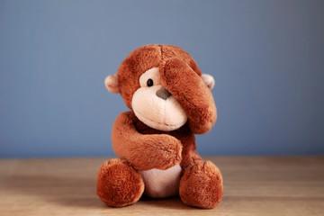 See no evil, hear no evil, speak no evil monkey emoji monkey teddy bear
