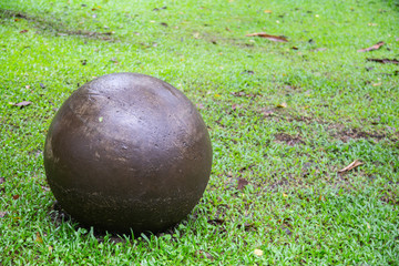 Replica Stone Spheres from Costa Rica in Arenal Volcano