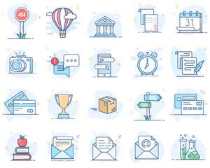 Color line vector icons. Set 1