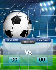 A succer ball scoreboard template