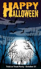 Happy halloween night template