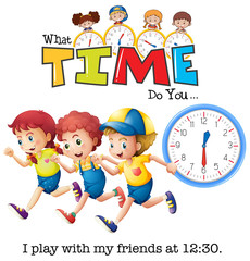 Children play at 13:30