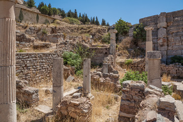 Ruins of the ancient Ephesus. Selcuk in Izmir Province, Turkey