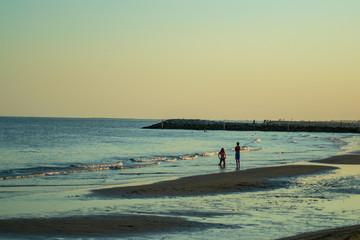 View of a beautiful beach in Cavallino-Treporti Venice Italy