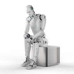ai robot thinking