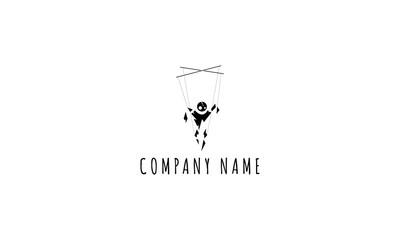 Black puppet vector logo image