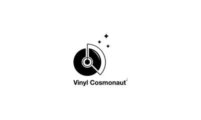 Vinyl Cosmonaut vector logo image