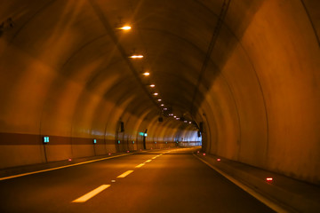 Wall Murals Tunnel Curved empty highway tunnel