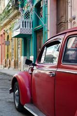 Old vintage american car in the streets of Havana, Cuba