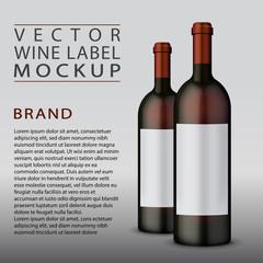 Vector wine label