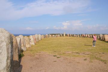 Ales stenar, Kåseberga, Ystad, Skåneleden, People