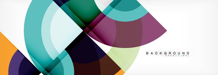Vector circular abstract background