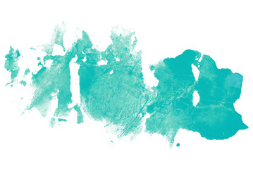 blue with a touch of green watercolor stain with abstract texture