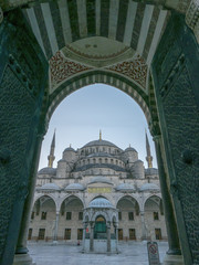 External view of Sultanahmet mosque in Istanbul, Turkey.