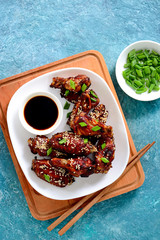 Chicken wings cooked on asian style recipe