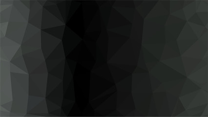 Black Dark Light   Polygonal Mosaic Background, Low Poly Style, Vector illustration, Business Design Templates.