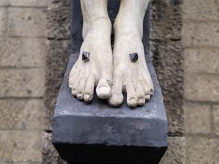 Illustration of Jesus feet