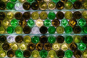 Colorful bottles bottoms