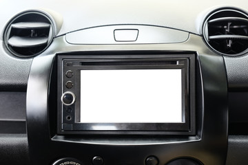 Mockup Smart multimedia touchscreen system for automobile
