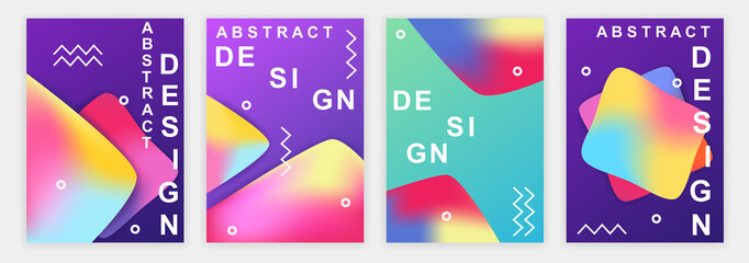 fluid background. design of a modern cover template. vector illustration. liquid gradient