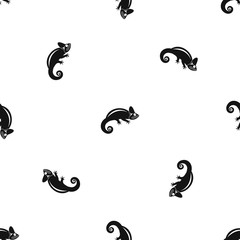 Chameleon pattern repeat seamless in black color for any design. Vector geometric illustration