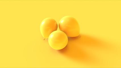 Yellow Balloon 3d illustration 3d rendering