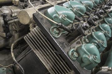 Motorkopf eines Dieselmotors