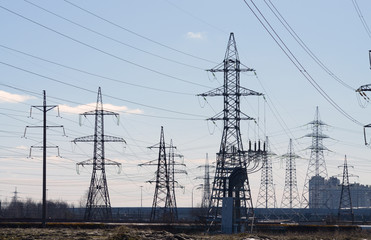 Electric current transmission line.