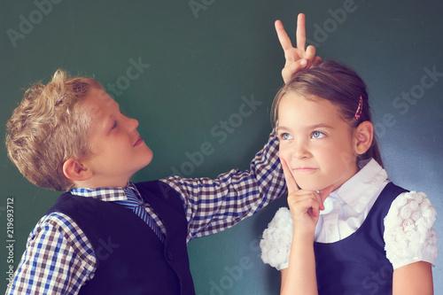 girl shows boy
