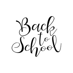 Back to School, Vector lettering illustration on white background
