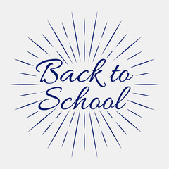 Back to School, Vector lettering illustration on grey background