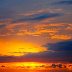 Beautiful sunrise and cloudy sky.