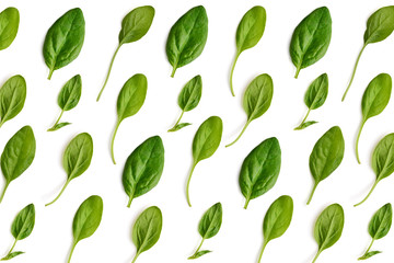 Pattern made of spinach.