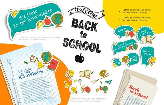 Flat Back To School Infographic Template