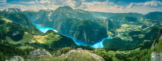 Konigsee lake in Berchtesgaden National Park Wall mural