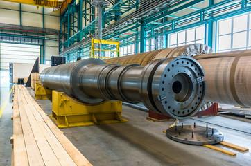 Large metal shaft in OJSC Power Machines