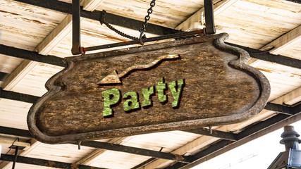 Schild 340 - Party